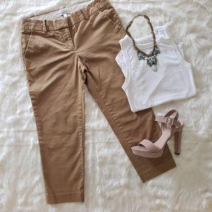 J. Crew khaki cafe capri stretch cotton pants 4p